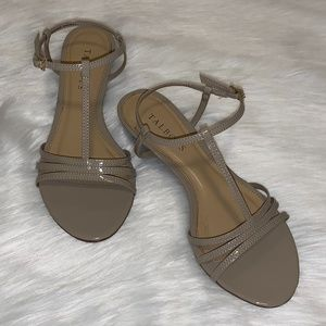Talbots Wedge Sandals Beige/Nude Sz 6